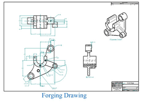 Forging drawing