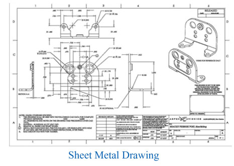 Sheet metal Drawing